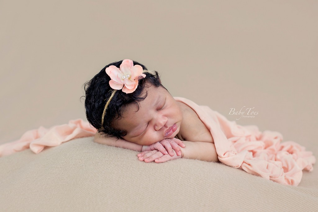 newborn girl portrait