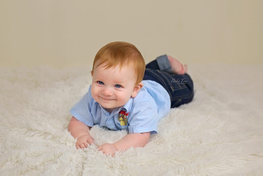 Seven month baby session